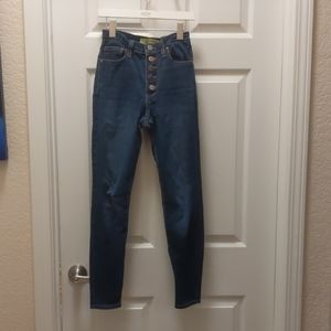 High waisted 5 button skinny jeans